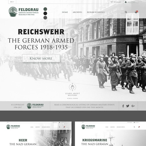 Design Military Research and Archive Site