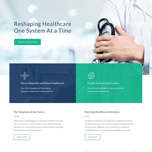 Covider Health Web Design