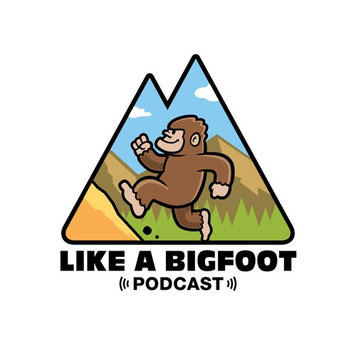 Logo concept for outdoor podcast