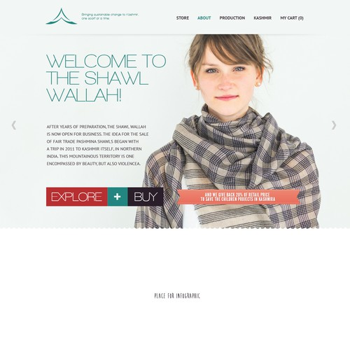 Shawl Wallah site design