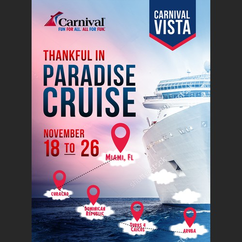 Banner ad for Carnival Cruise