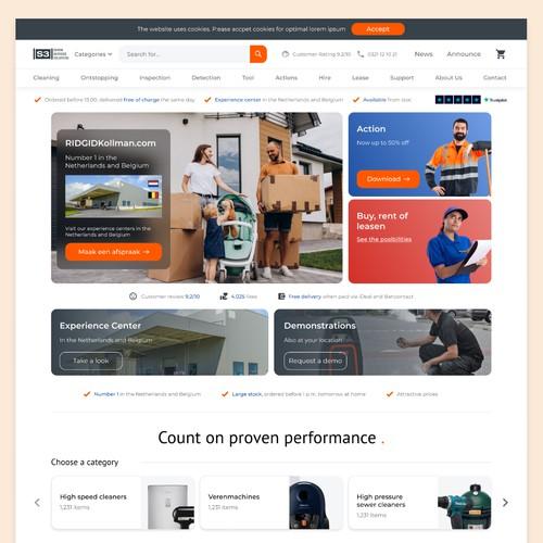 E-commerce Homepage Design
