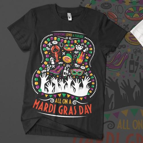 Mardi Gras Themed T-shirt Design