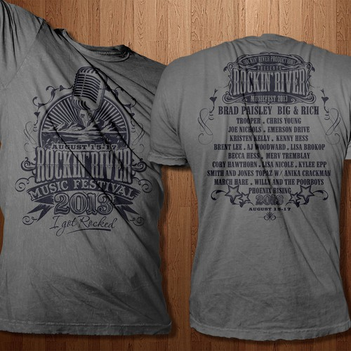 Vintage T-Shirt Design for Country Music Festival