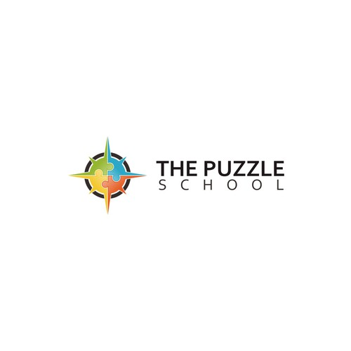 A logo for The Puzzle School