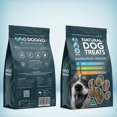 Natural Dog Treats-Kangaroo Tendon.