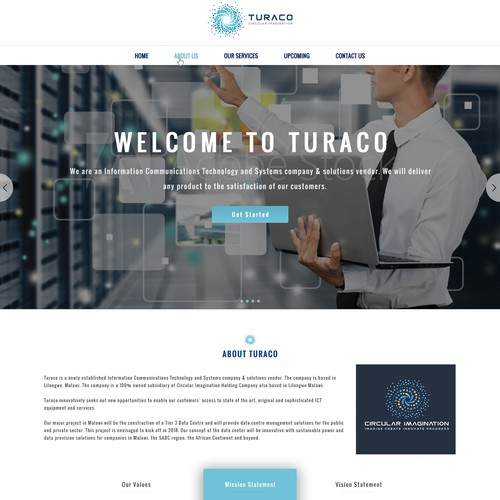 Amazing Turaco website design