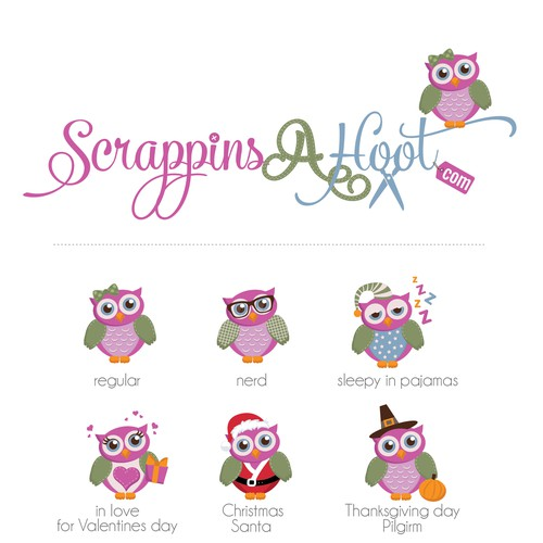 Creating a Fun Scrapbooking Site Logo for ScrappinsAHoot.com