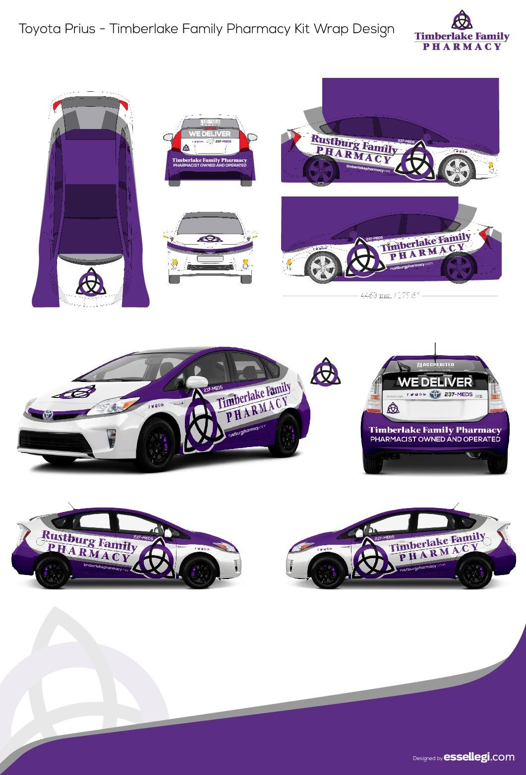 Design a car wrap for new retro pharmacy, Timberlake Family Pharmacy