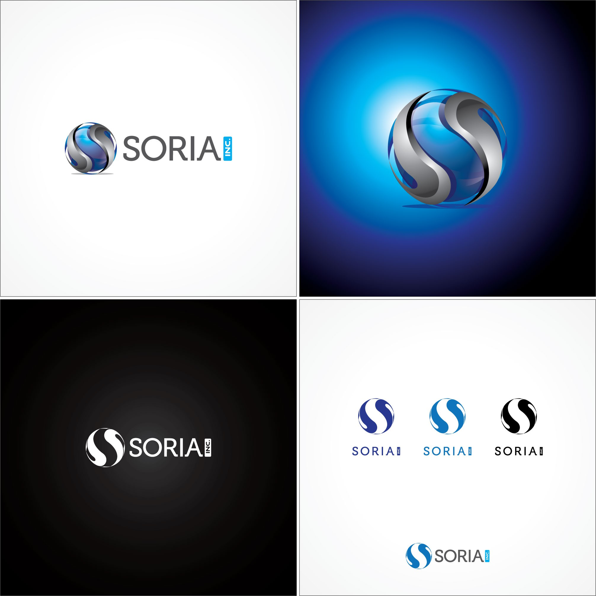 Creative Professional Logo for  Soria, Inc.