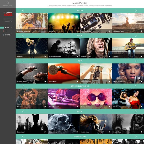 New design for cool video streaming site