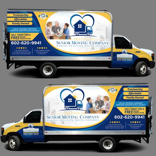 Truck Wrap for Arizona Senior Moving Company