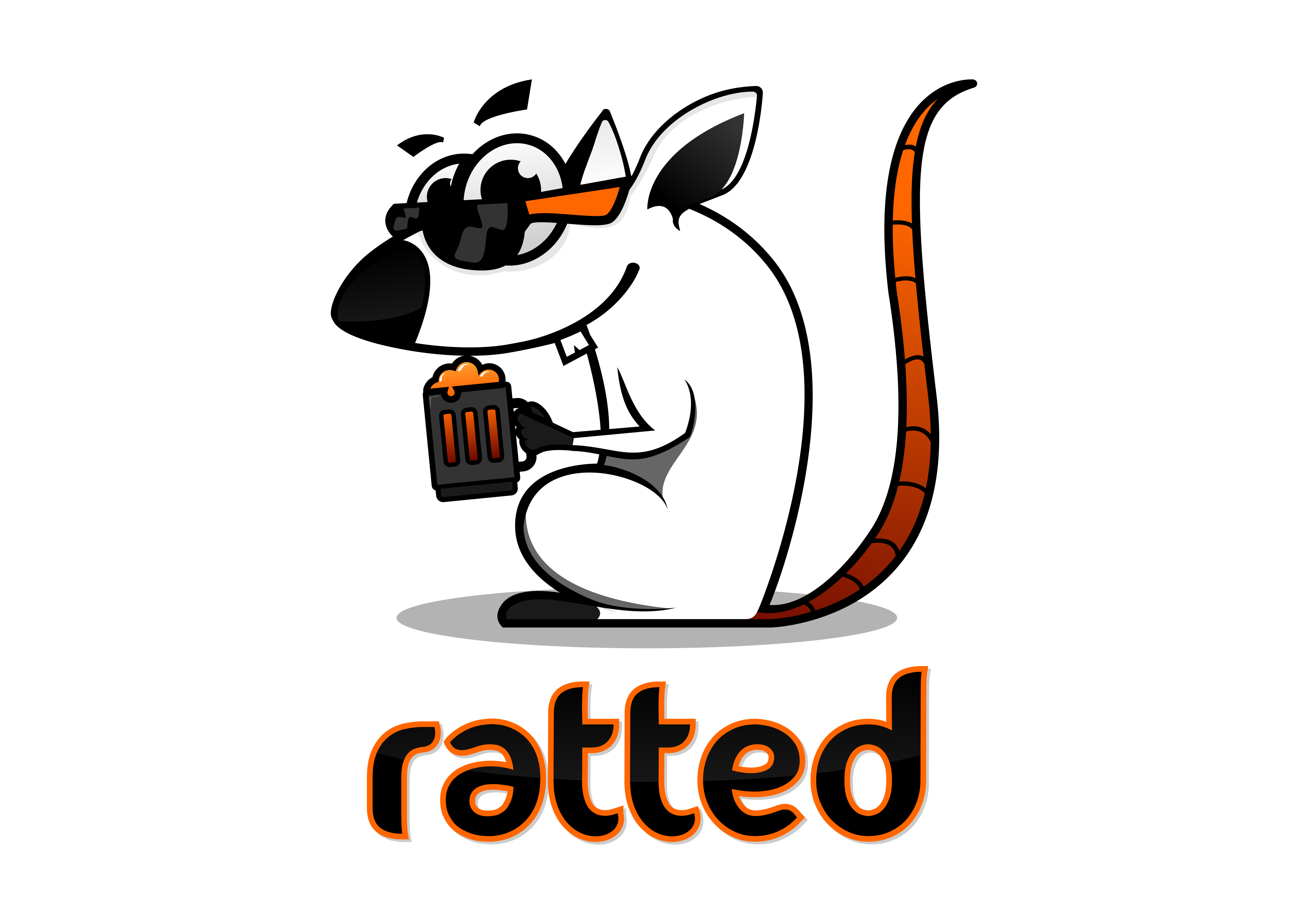 Design a rat character for a drinking app!