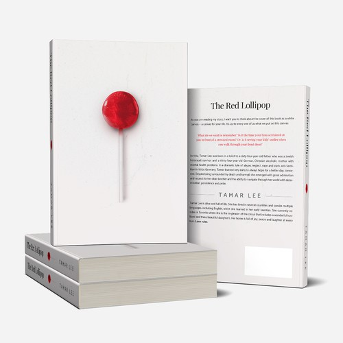 The Red Lollipop - Biography Book cover design