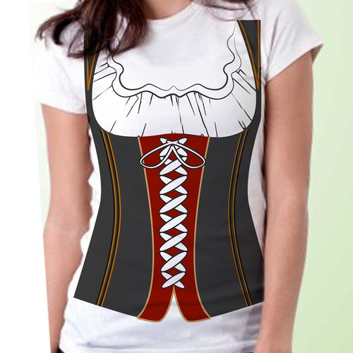 Dirndl T-Shirt Design