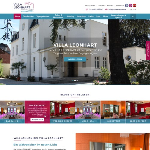 Web Design for Willa Leonhart