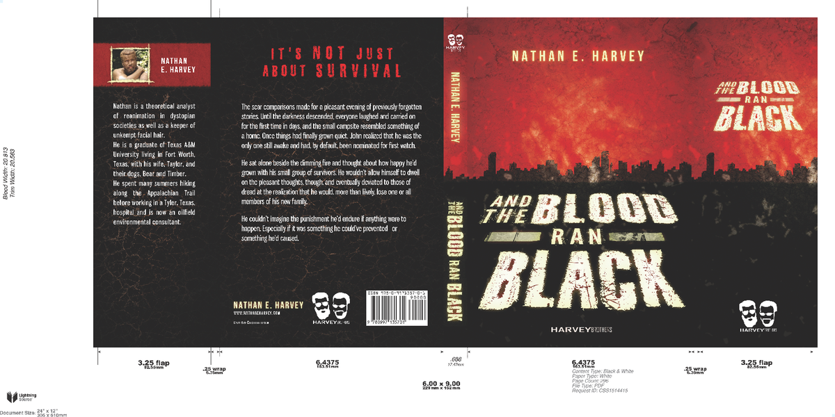 """""""And the Blood Ran Black""""    Lightning Source Cover Template adaptation"""