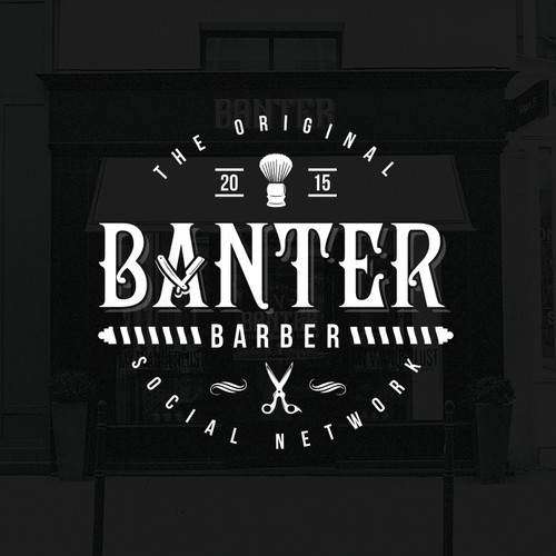Logo for BANTER - local barber lounge.