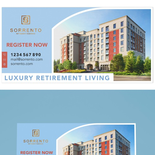 Billboard for a retirement residence