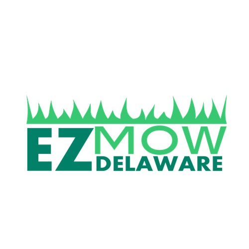 Create an eye-catching lawn maintenance company illustration for EZ Mow Delaware