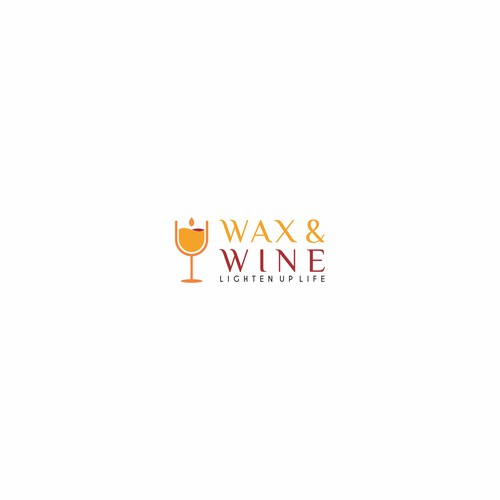 Logo concept for Wax & Wine