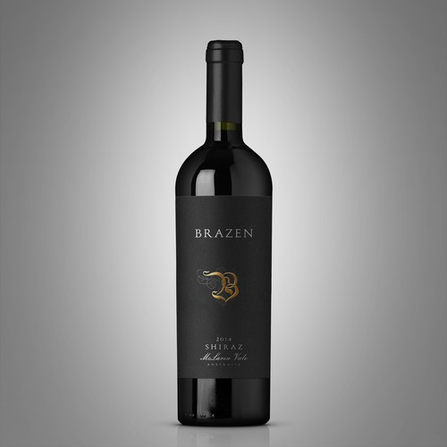 Brazen Wine Label Design