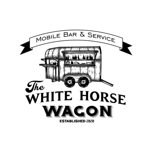 Logo concept for the white horse wagon