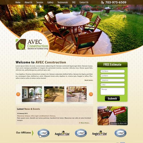 website design for AVEC Construction