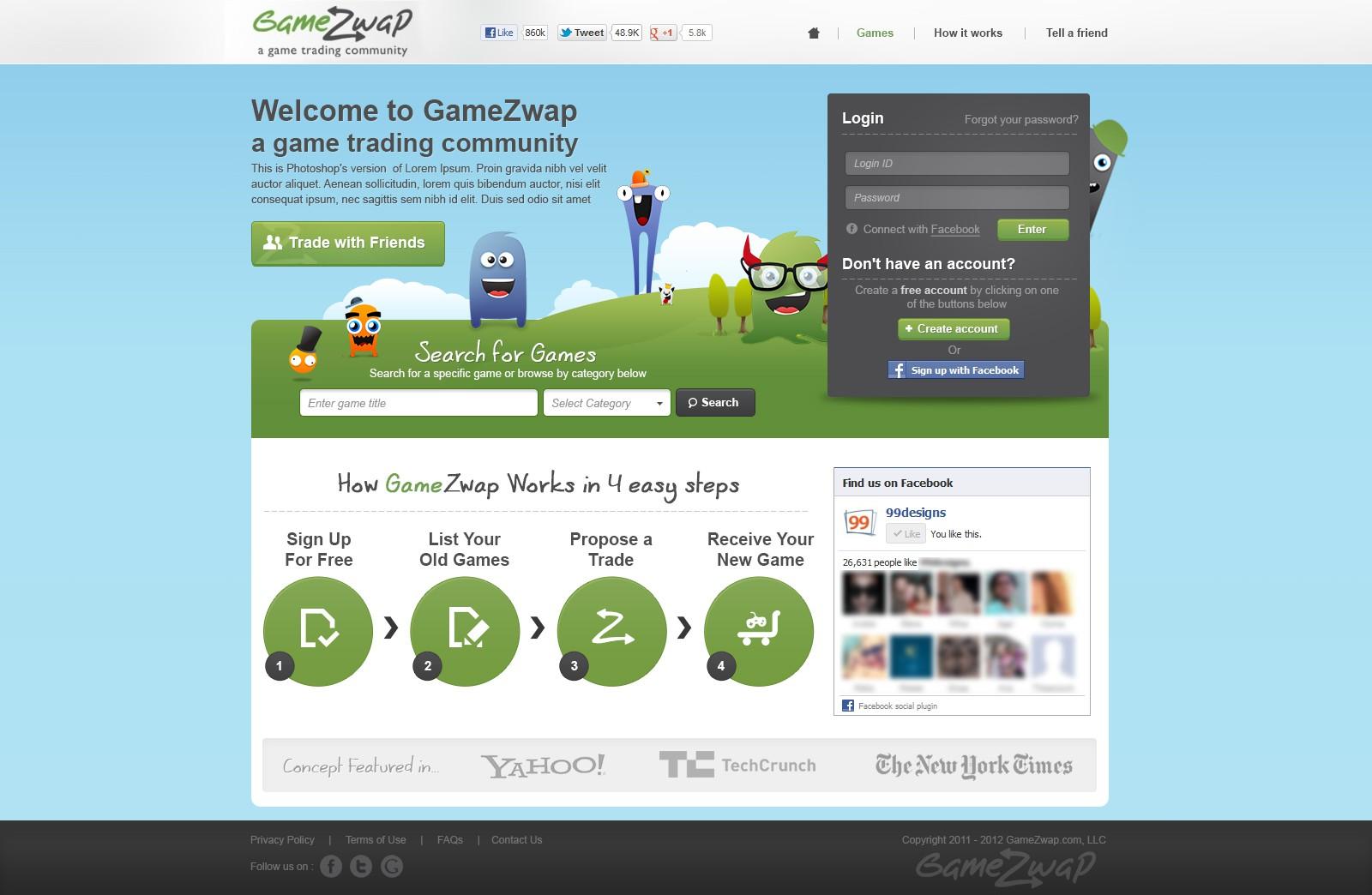 GameZwap LLC needs a new website design