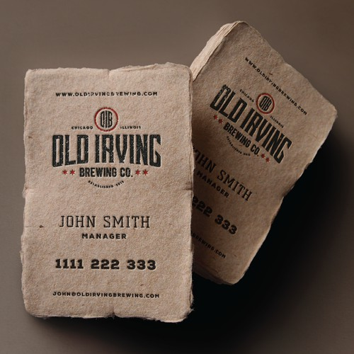 Brewery business card design