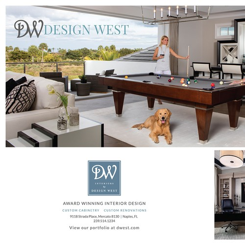 Design West 2 page Magazine Ad design