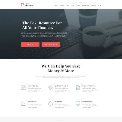 Website Template for AdvisorWebsites
