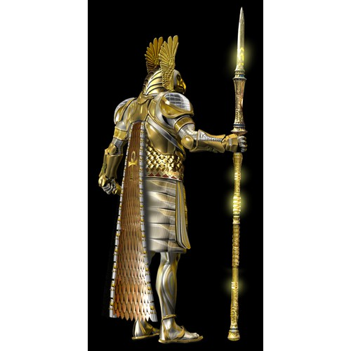Fantasy Eqyptian warrior god
