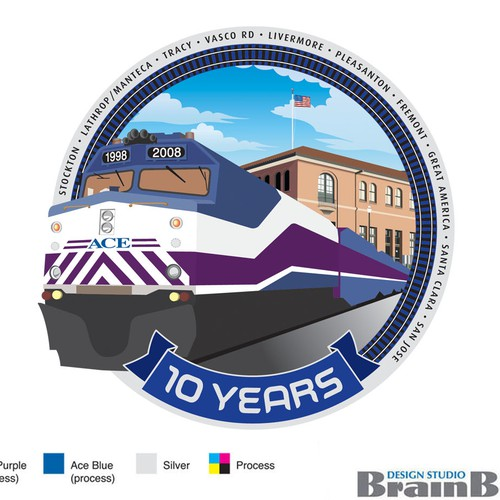 ACE Rail's 10-Year Anniversary Logo