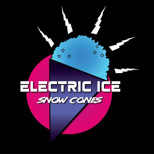 80s Logo Concept for Electric Ice Snow Cones
