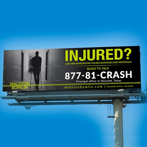 Injured Law Firm Billboard Concept