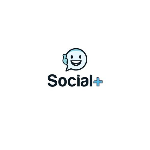 logo for social+