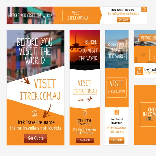 itrek Travel Insurance Web Flash Banner