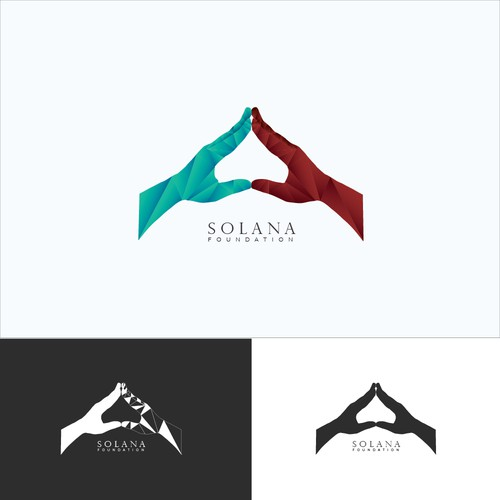 Low Poly Hand Design For SolanaLand Foundation