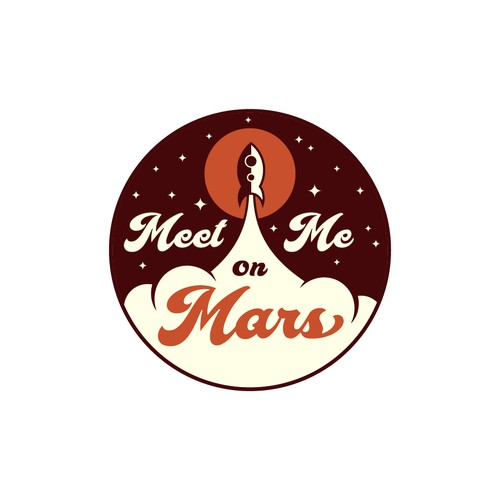 Retro Logo for Meet Me On Mars