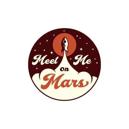 Retro Logo for Meet Me On Mars