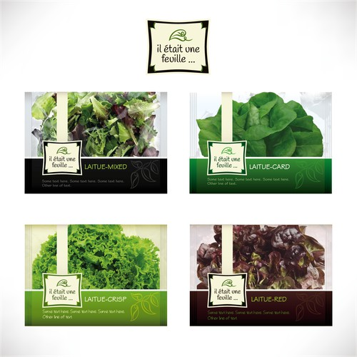 Logo and packaging design for a hydroponic lettuce farm