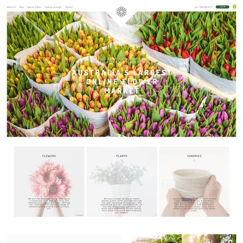 Flower Market Website