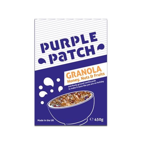 Packaging design for breakfast granola