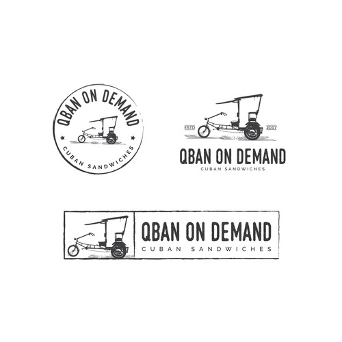 "Vintage logo for a ""Delivery Only"" Cuban Sandwich Virtual Restaurant"