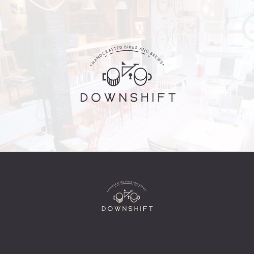 A bike/brewery/coffeeshop made real in a logo