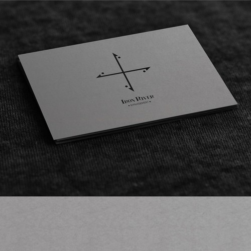 Create a logo and business card for Iron River Management