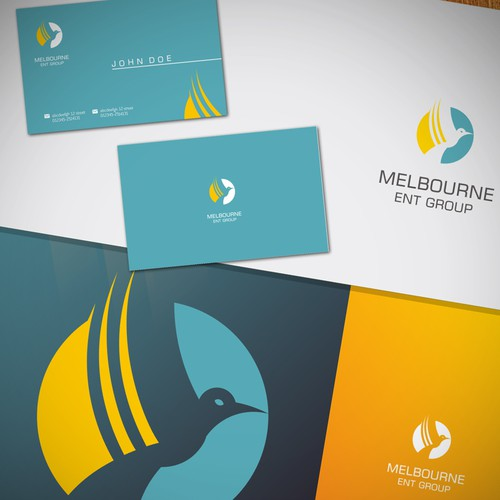 Create a unique logo/business card for a group of dynamic ENT surgeons: Melbourne ENT Group
