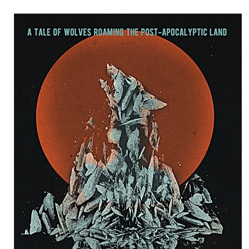 An Eye-catching E-book Design for Story about Wolves Roaming a Post-apocalyptic Town