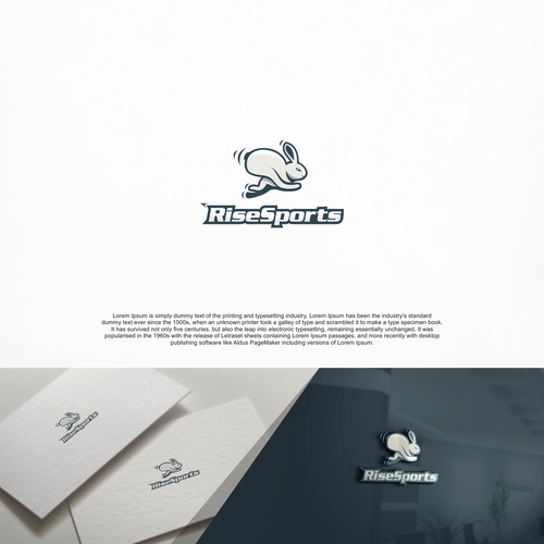 Rabbit logo concept for Rise Sports